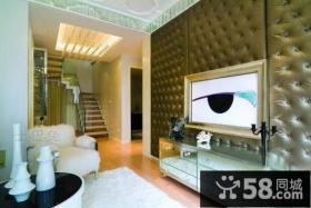 50万打造复式欧式装修电视背景墙效果图
