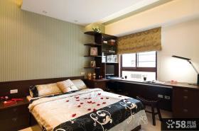 中式样板房卧室装修效果图