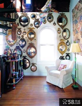 美式经典复式楼客厅沙发装修效果图