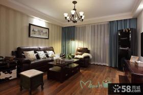 现代美式风格家装客厅装修效果图