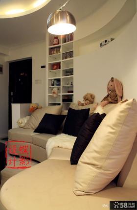 小户型客厅沙发靠垫图片大全