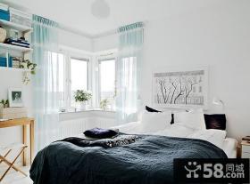 小户型清新自然的卧室装修效果图