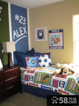 45平超小户型现代卧室背景墙装修效果图
