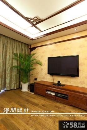 中式客厅电视背景墙效果图大全2013图片欣赏