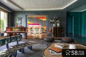 美式复古风格客厅图片