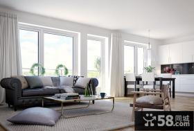 一室一厅小户型客厅飘窗装修效果图大全2014图片