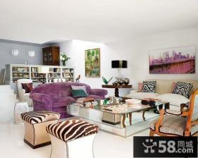复式楼低调内敛的客厅装修效果图大全2014图片