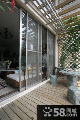 中式休闲阳台装修效果图欣赏