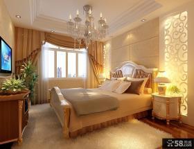 欧式简约卧室装修效果图大全2012图片 卧室窗帘设计图片