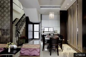 中式现代复式楼装修效果图