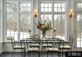 简约风格设计餐厅窗户图片欣赏大全