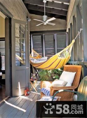休闲吊床阳台设计