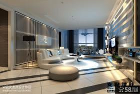 别墅客厅电视背景墙装饰设计图