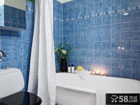 二室二厅家庭卫生间瓷砖装修效果图