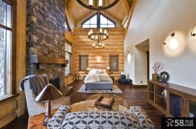 美式豪华别墅图片 经典别墅客厅图片