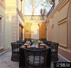 现代别墅露天餐厅设计效果图