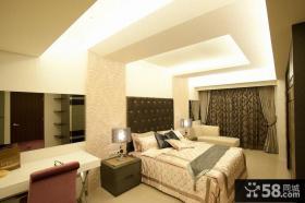现代风格主人卧室家装设计效果图