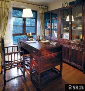中式古典装修风格书房样板间