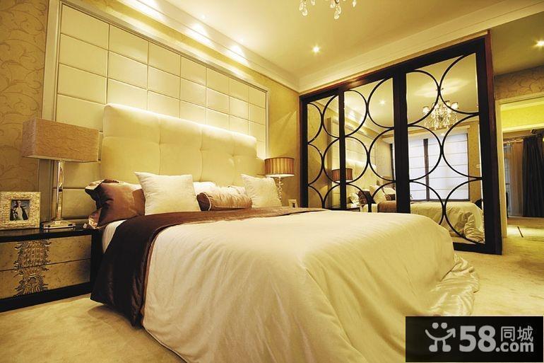 家装主卧室床头背景墙装修效果图