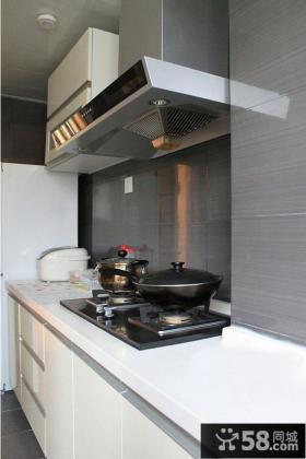 家庭厨房橱柜大理石台面效果图