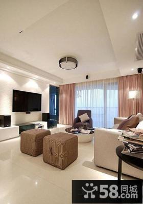 家装现代风格客厅电视背景墙效果图