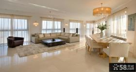 别墅客厅地面瓷砖效果图