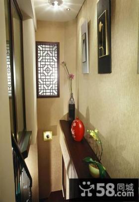 中式现代风格别墅楼梯间室内装修图片