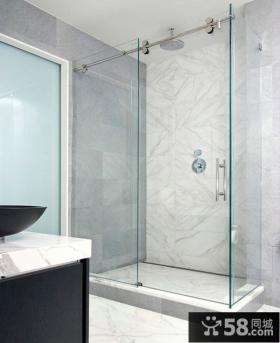 简约风格浴室玻璃门