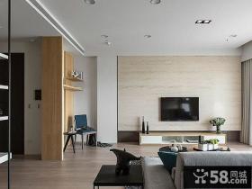 日式简约电视背景墙设计装饰效果图