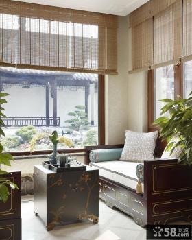 中式古典风格室内窗户装修效果图