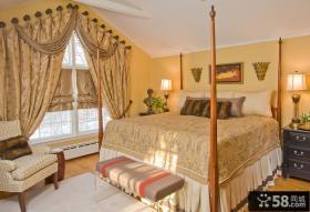 卧室窗帘装修效果图 欧式窗帘装修效果图