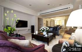 美式古典风格客厅装修设计效果图