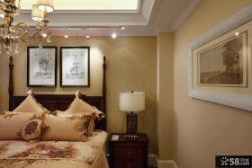 美式新古典风格卧室床头灯具图片