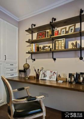 130平米美式混搭三居室内设计效果图片