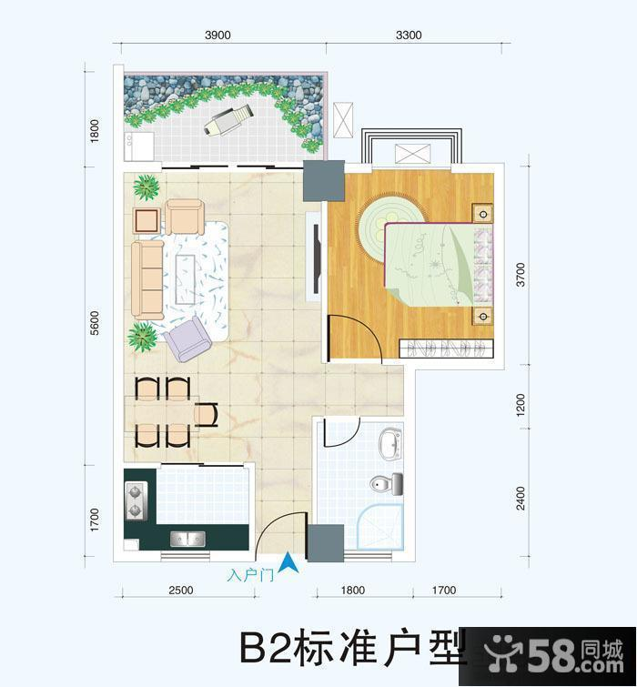 50平米小户型房屋平面设计图图片