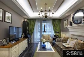 美式装修时尚客厅电视背景墙欣赏