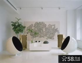 简约客厅无框装饰画