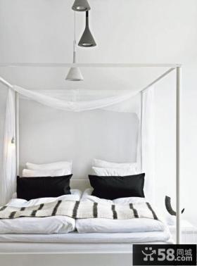 二居室北欧风格卧室装修设计样板间