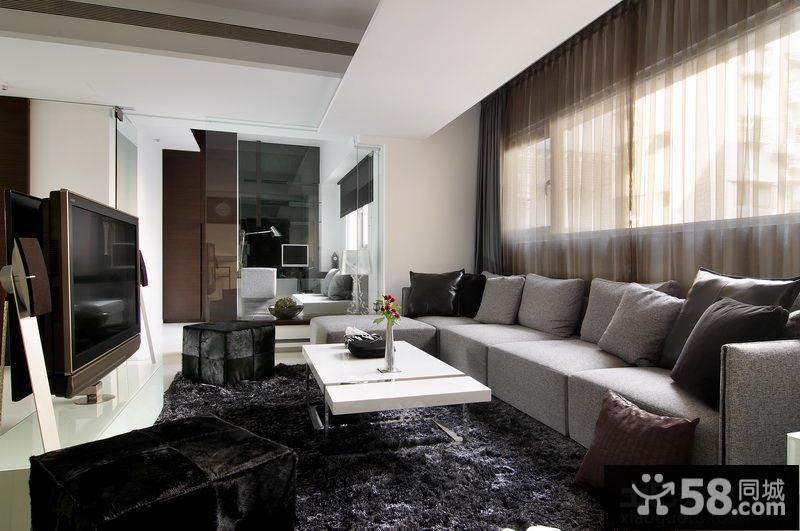 后现代风格小户型客厅电视背景墙装修效果图