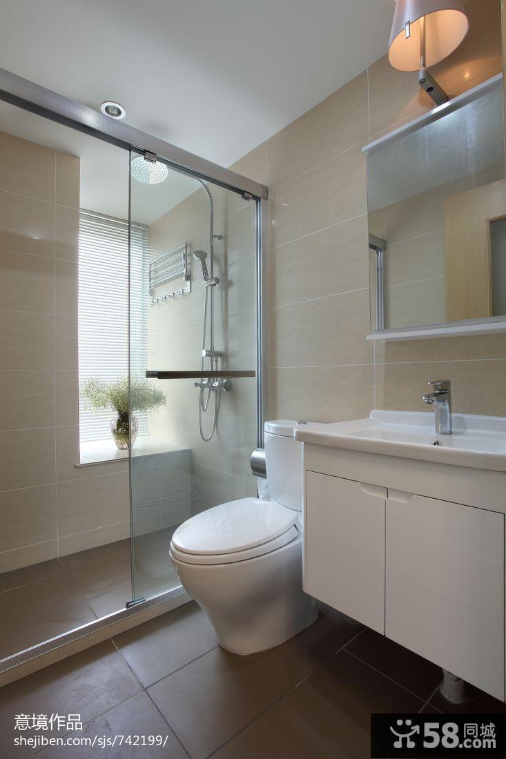 小浴室装修效果图大全2015图片