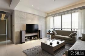 现代简约瓷砖客厅电视背景墙效果图
