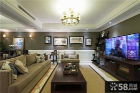 美式风格室内客厅电视背景墙效果图欣赏