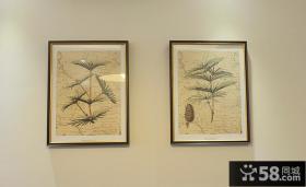 美式家居墙面挂画图片