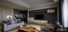 后现代美式风格客厅装修效果图欣赏