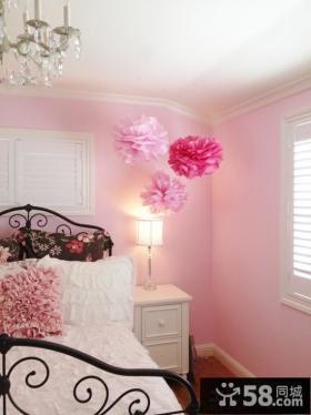 欧式粉红卧室图片