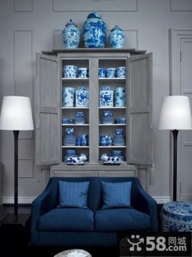 欧式蓝调橱柜装修效果图大全2012图片