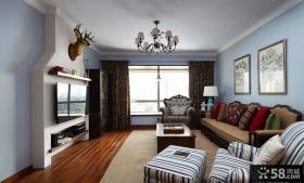 美式别墅家庭室内装饰效果图片