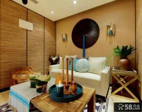 东南亚别墅小客厅效果图