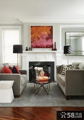 简欧舒适的小户型客厅装修效果图大全2012图片