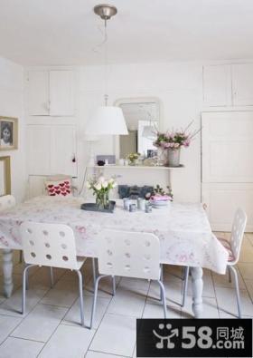 北欧田园风格复式家庭餐厅装修效果图